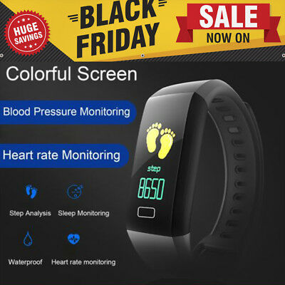 Smart Watch Bluetooth Fitness Tracker Heart Rate Bracelet Waterproof Wristband