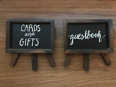Chalkboard Wedding Signs.Wooden Chalkboard Wedding Signs Guestbook And Cards And Gifts