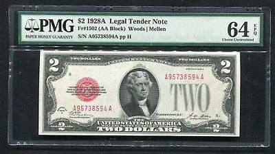 Fr 1502 1928-A $2 Legal Tender United States Note Pmg Choice Uncirculated-64Epq