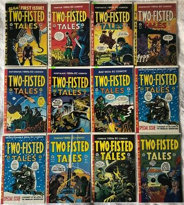 TWO-FISTED TALES EC Comics lot of 12: 1 3 4 5 6 7 8 9x2 12 13 14 NM