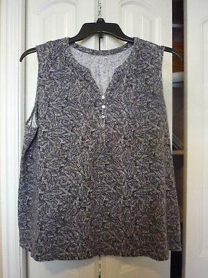 47a3733cb9199 Ladies sleeveless top by Croft   Barrow in size 2X (black gray)