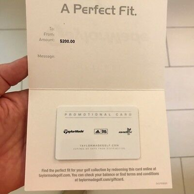 Taylor Made Golf $200 Gift Card-Buy it now $159-Free Shipping