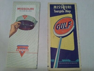 PRICE DROP! Vintage Gas Station Missouri Highway Maps, Collectable, Gulf, Conoco