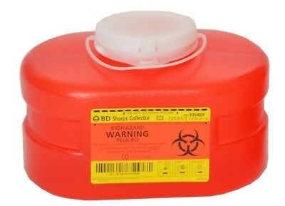 New! BD 3.3QT/3.1L Multi-Use Sharps Collector Red w/Regular Funnel Entry 305488