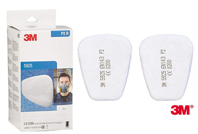 3M 5925 P2R Particulate Filter {1-20 Pair}  in White Genuine & BOXED