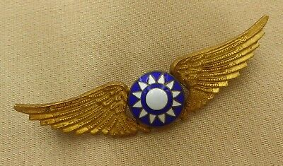 Chinese Pilot Wing Badge // Flying Tiger Avg / Usaf Ww2 Version 2