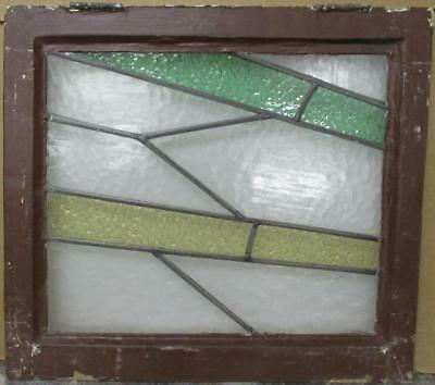 """OLD ENGLISH LEADED STAINED GLASS WINDOW Awesome Geometric Design 20.75"""" x 18.75"""""""