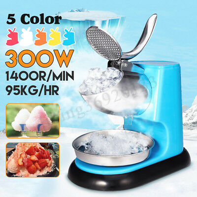 95KG/H Electric Ice Crusher Shaver Commercial Machine Snow Cone Maker 1400R/min