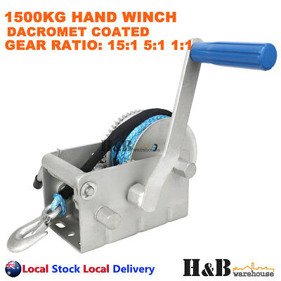 1500KG Hand Winch Dyneema Rope 7mm X 8M Winch Rope Marine Boat Trailer
