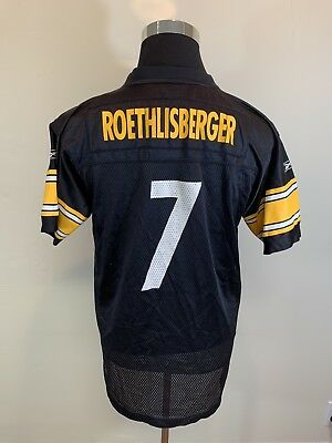 9b23eac8453 roethlisberger jersey youth PITTSBURGH STEELERS BEN Roethlisberger Jersey  Youth XL Reebok ...