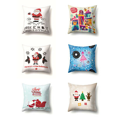 New Fashion Merry Christmas Digital Printing Pillowcase Protective Cushion Cover