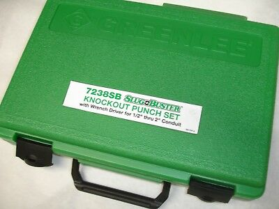 """Greenlee 7238SB 1/2""""-2"""" Slug-Buster Knockout Kit With Ratchet Wrench NEW"""