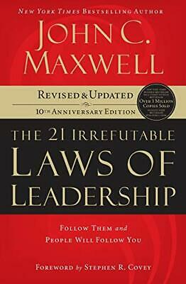 21 Irrefutable Laws of Leadership by Maxwell, John C. Paperback Book The Cheap