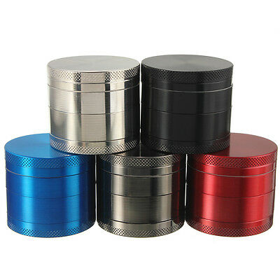 4 Partes Molinillo Metal Crusher Herb Spice Grinder Fumar 40mm