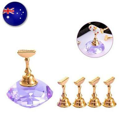 Nail Art Practice Crystal Tips Holder Base Diamond-shaped Pedestal Beauty Tool