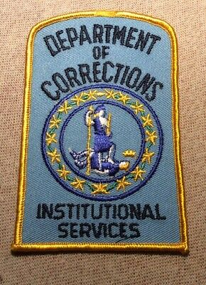 VA Virginia Department of Corrections Institutional Services Patch