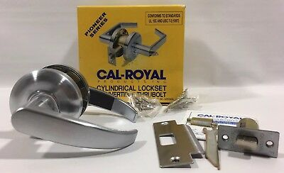 NEW CAL-ROYAL RL30 Cylindrical Lever Commercial PASSAGE Door Handle Satin Nickel