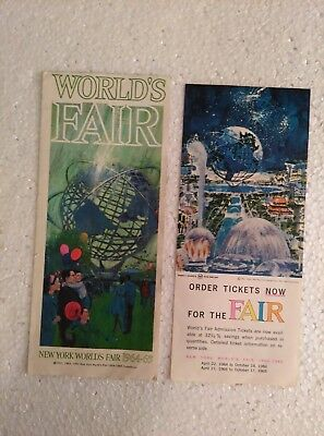 New York World's Fair 1964 1965 Brochure & Ticket Price Information Flyer