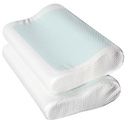 2x Supreme High Density Memory Foam Pillow Contour Cool Gel Top with Cover @HOT