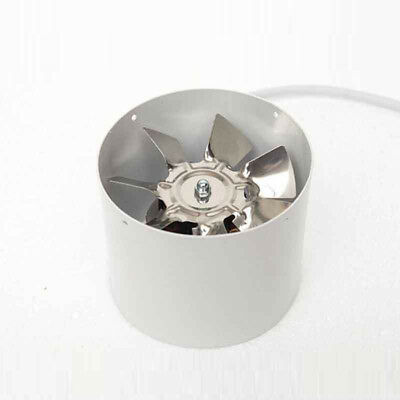4Inline Duct Fan Booster Exhaust Blower Air Cooling Vent Metal Blade 220V 100MM
