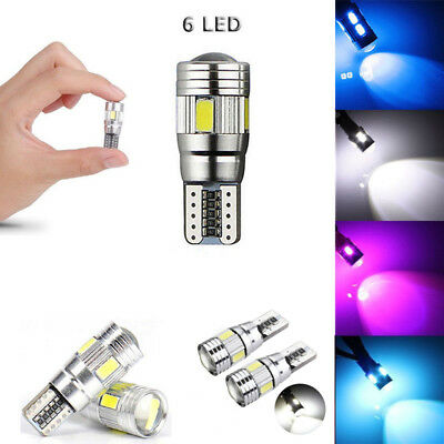 T10 Car Side Light Bulb Canbus Error Free Xenon White 6 Smd Led 501 W5W Wedge 1