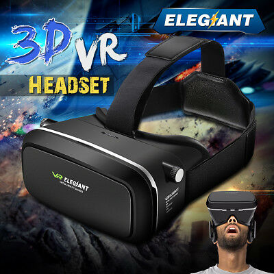 VR 3D Glasses Goggles Cardboard Movie Gaming Video Headset for Android IOS Phone