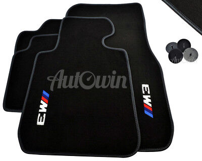 Floor Mats For BMW M3 Series F30 F30 LCI F80 With M3 Emblem Grey Rounds NEW