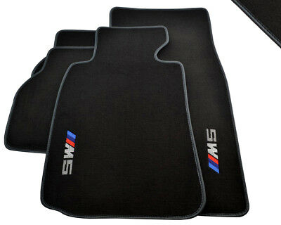 Floor Mats BMW 5 Series E39 M5 With M5 Emblem & Tailored Grey Rounds LHD NEW