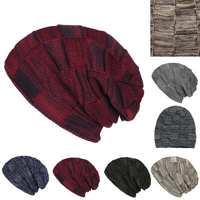 13de5246cc1 Men Women Winter Warm Oversized Knit Crochet Baggy Beanie Skull Hat Slouch  Cap