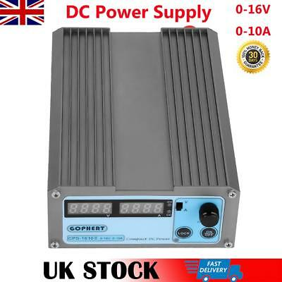 DC Power Supply 16V 10A Variable Precision Adjustable Dual Digital Lab Grade UK