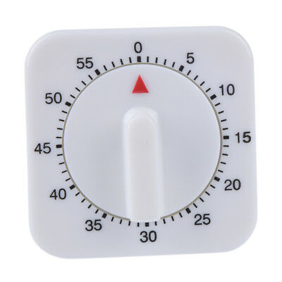 KITCHEN TIMER 60 Minutes Hand Winder 1 Hour Mechanical Clock