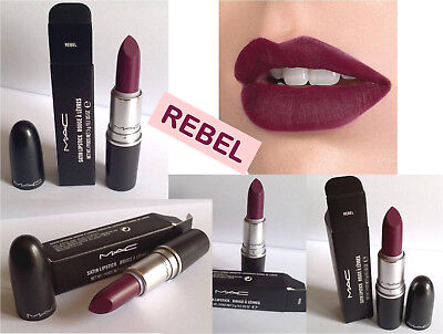 ROSSETTI MAC Satin Lipstick REBEL Rouges a Levres NUOVO