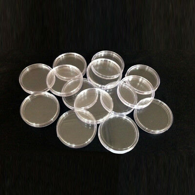 10/100pcs Clear Round Capsule Coin Collection Storage Box Holder for 40mm Coins