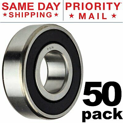 E486 608-2RS 8x22x7mm Ball Bearings Deep Groove Steel Sealed Durable Black New