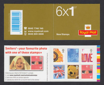 QA1 2005 Smilers Barcode Booklet 6 x 1st - Complete