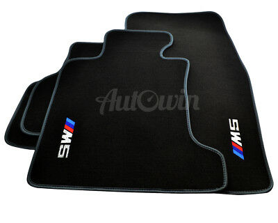 Floor Mats For BMW 5 Series E60 E60 LCI With ///M5 Emblem & Grey Rounds LHD NEW