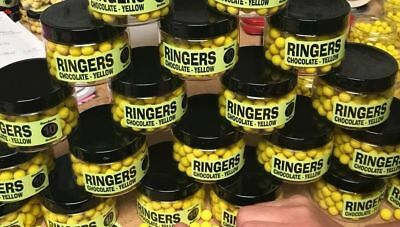 Brand New Ringers Chocolate Yellow Bandem Wafter Boilies - All Sizes Available