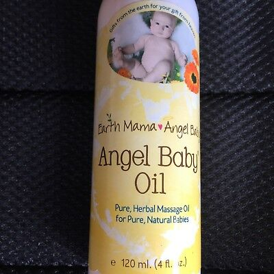 Earth Mama Angel Baby Oil 4 fl oz Chosen by hospitals 100% pure natural oils