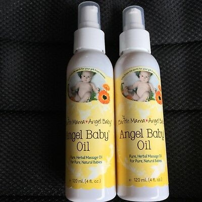 Earth Mama Angel Baby Oil 4 fl oz Lot Of 2