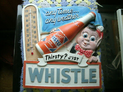 ***RARE*** 1940's-50's Whistle Orange Soda Thermometer Advertising Sign