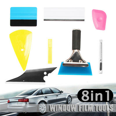 8pc Squeegee Car Window Tint Auto Film Wrapping Install Applicator Tools Kit DIY