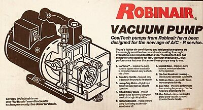 NEW Robinair Vacuum Pump 15401 High Performance 110 v- 220 v A/C