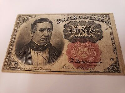 1874 10C Ten Cents US Fractional Currency Note