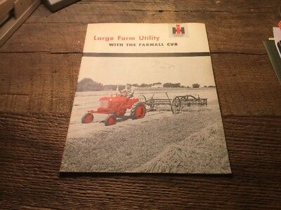 Ihc International FarmAll Cub Brochure Manual Large Farm Utility Book