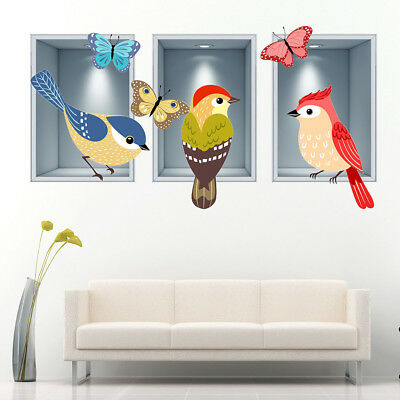 Wall Stickers Crow Bird Animal Cool Bedroom  Bedroom Girls Boys Living Room G509
