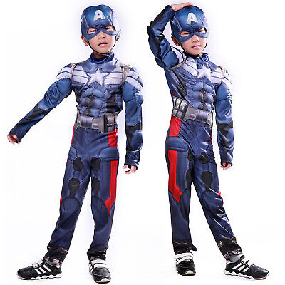 Jungen Cosplay Kostum Captain America Avengers Kinder Party Fasching