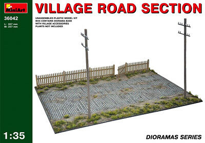 Village Road Section model kit  1/35 MiniArt  # 36042