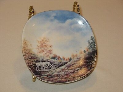 Vintage Miniature Wall Plate – Autumn in Lapland – Arabia Finland – Great Colors