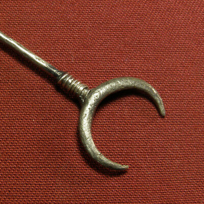 Roman silver hairpin with lunula