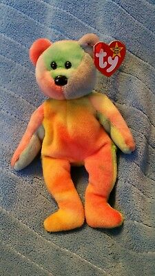 Ty beanie babies Garcia Lots of pink and green with a red right ear